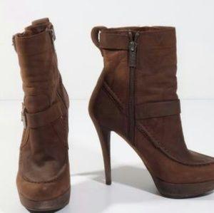 KORS Michael KorsLeather Ankle Stiletto Boots